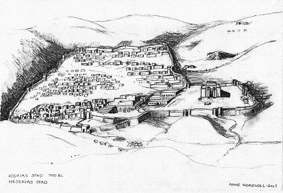 Illustration of the city of Hezekiah year 700BC